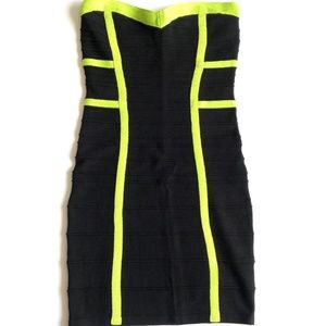 Forever 21 Neon and Black Bodycon Dress NWOT